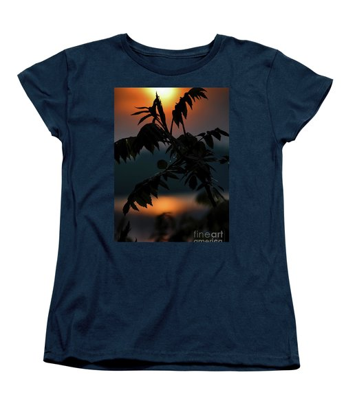 Women's T-Shirt (Standard Cut) featuring the photograph Sumac Sunrise Silhouette by Henry Kowalski