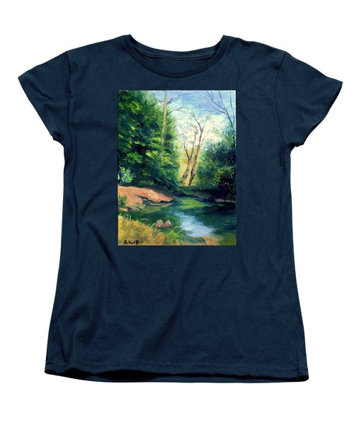 Summer At Storm Women's T-Shirt (Standard Cut) by Gail Kirtz