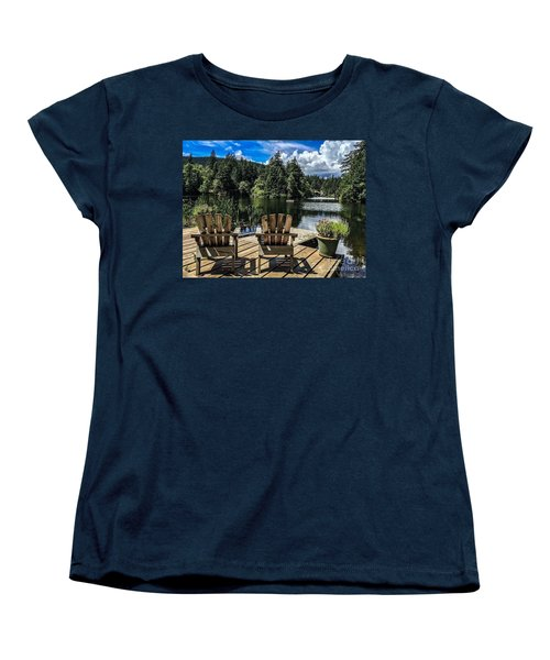 Women's T-Shirt (Standard Cut) featuring the photograph Summer By Eagle Lake by William Wyckoff