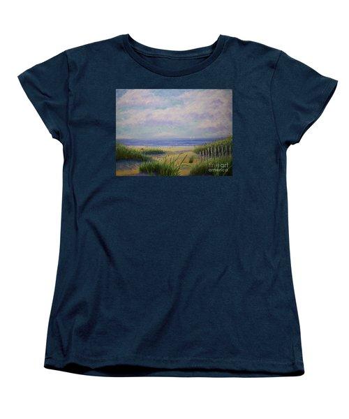 Summer Day At The Beach Women's T-Shirt (Standard Cut) by Stanton Allaben