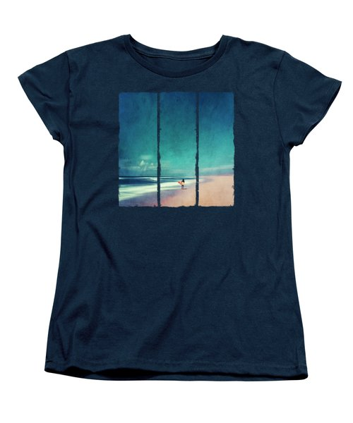 Summer Days - Abstract Seascape With Surfer Women's T-Shirt (Standard Fit)