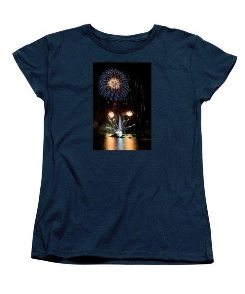 Summer Fireworks I Women's T-Shirt (Standard Cut) by Helen Northcott