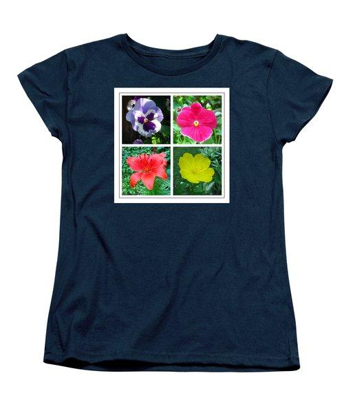 Summer Flowers Window Women's T-Shirt (Standard Cut) by Maciek Froncisz