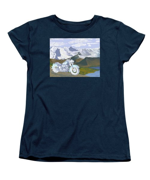Women's T-Shirt (Standard Cut) featuring the drawing Summer Ride by Terry Frederick