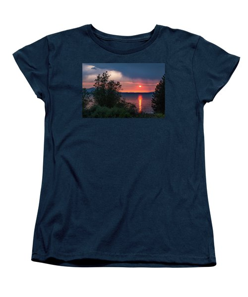 Women's T-Shirt (Standard Cut) featuring the photograph Summer Storm by Jan Davies
