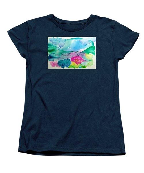 Summer Storm Women's T-Shirt (Standard Cut) by Lynda Cookson