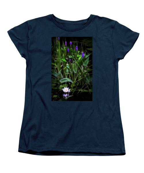 Women's T-Shirt (Standard Cut) featuring the photograph Summer Swamp 2017 by Bill Wakeley