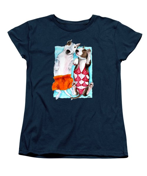 Women's T-Shirt (Standard Cut) featuring the painting Summer Time by Jindra Noewi
