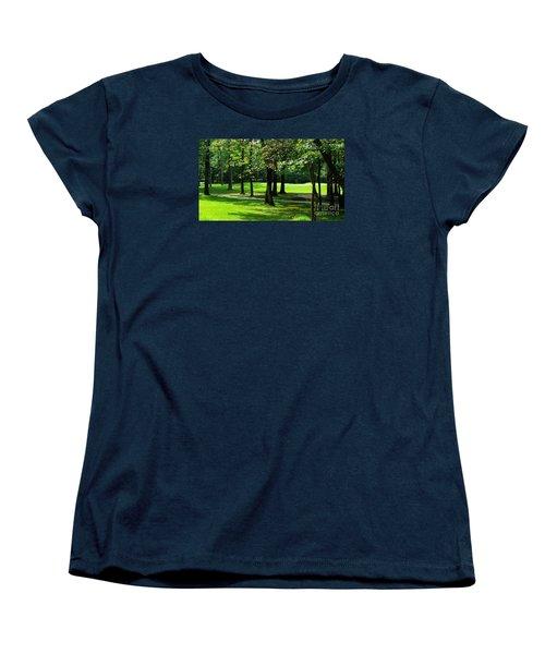 Women's T-Shirt (Standard Cut) featuring the photograph Summer Walk by Geraldine DeBoer