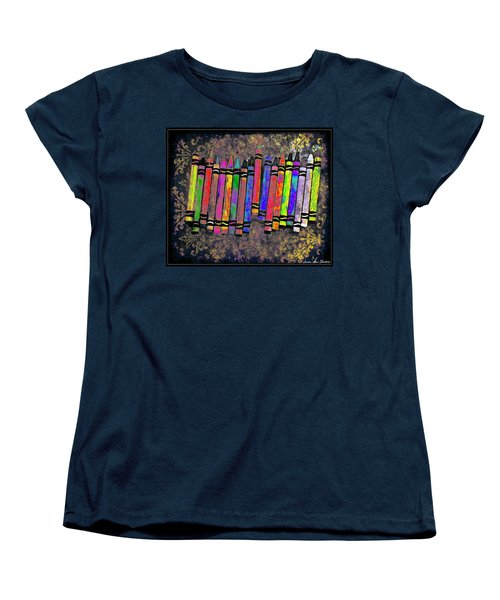Summer's Crayon Love Women's T-Shirt (Standard Cut) by Iowan Stone-Flowers