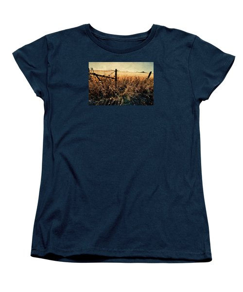 Summertime Country Fence Women's T-Shirt (Standard Cut) by Steve Siri