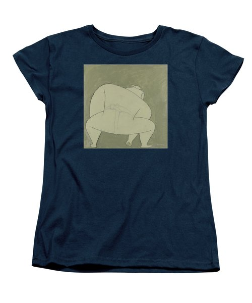 Women's T-Shirt (Standard Cut) featuring the painting Sumo Wrestler by Ben Gertsberg