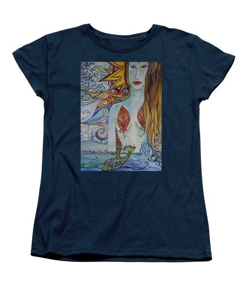Sun And Sea Godess Women's T-Shirt (Standard Cut) by Claudia Cole Meek