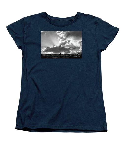 Sun Beams Over Church Women's T-Shirt (Standard Cut) by Nicholas Burningham