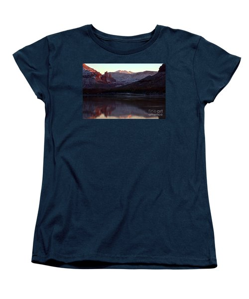 Women's T-Shirt (Standard Cut) featuring the photograph Sun Down At Fisher Towers by Adam Jewell