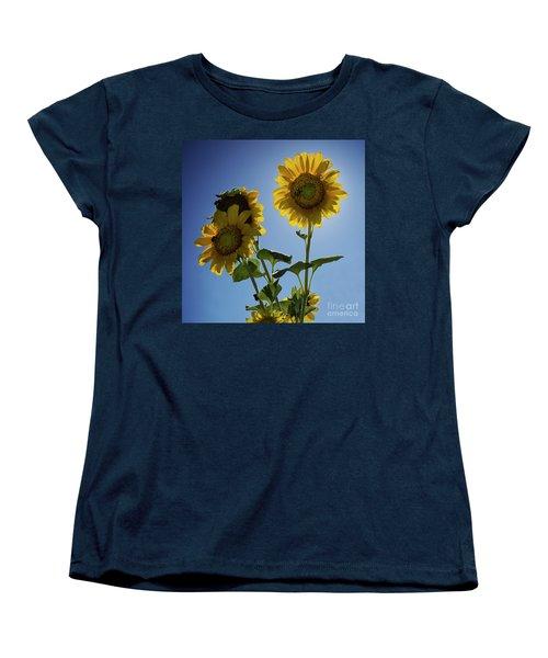 Women's T-Shirt (Standard Cut) featuring the photograph Sun Flowers by Brian Jones