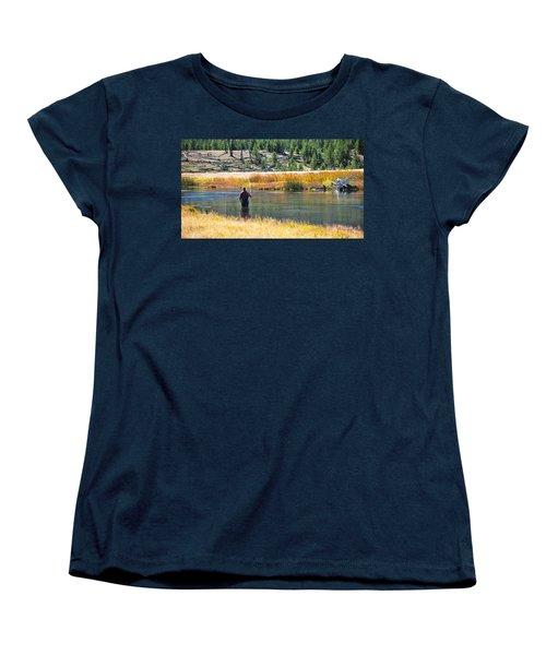 Sun Lights The Line Women's T-Shirt (Standard Cut) by Eric Tressler