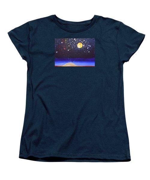 Sun Moon And Stars Women's T-Shirt (Standard Cut) by Donna Blossom