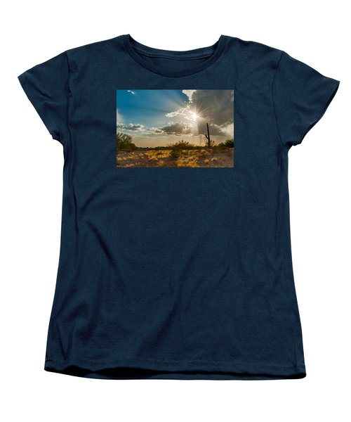 Women's T-Shirt (Standard Cut) featuring the photograph Sun Rays In Tucson by Dan McManus