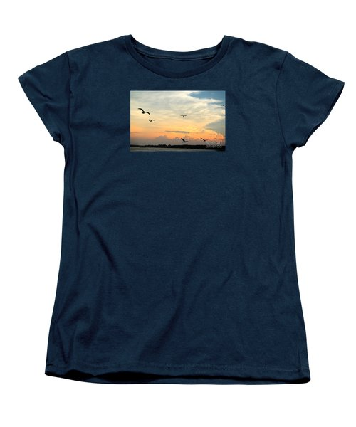 Sun Setting Over The Lake   Women's T-Shirt (Standard Cut)