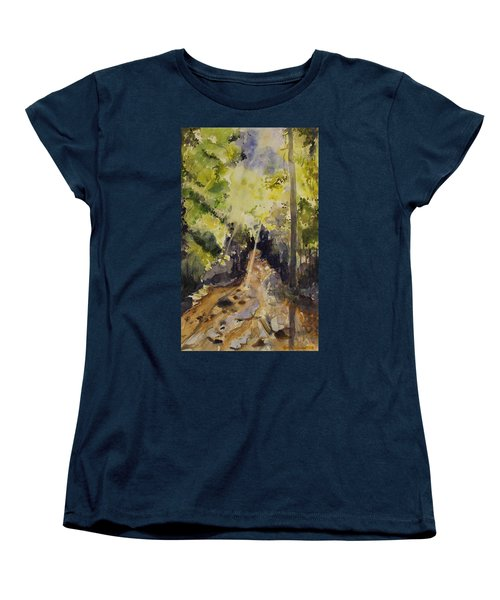 Women's T-Shirt (Standard Cut) featuring the painting Sun Shines Through by Geeta Biswas