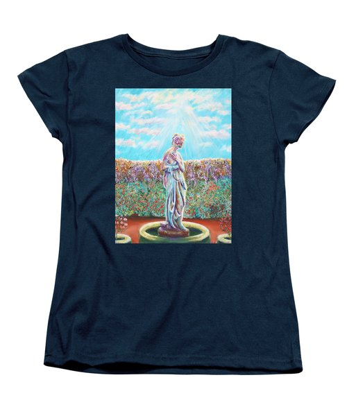 Women's T-Shirt (Standard Cut) featuring the painting Sunbeam by Elizabeth Lock