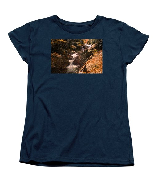 Women's T-Shirt (Standard Cut) featuring the photograph Sunburst Falls by Cathy Donohoue