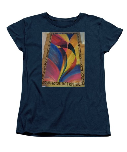 Sunburst Floorcloth Women's T-Shirt (Standard Cut) by Judith Espinoza