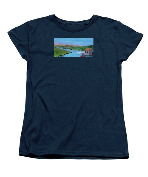 Sunday Afternoon On The California Delta Women's T-Shirt (Standard Cut) by Mike Caitham