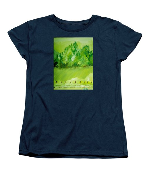 Women's T-Shirt (Standard Cut) featuring the painting Sunday At Two Thirty by Seth Weaver