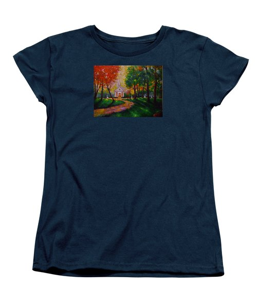 Women's T-Shirt (Standard Cut) featuring the painting Sunday School by Emery Franklin