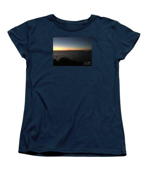 Sunday Sunrise, October 4, 2015, Casco Bay, Portland, Maine Women's T-Shirt (Standard Cut)