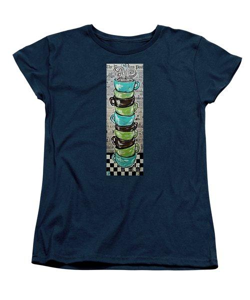 Sundays Cup A Joe Dark Roast Women's T-Shirt (Standard Cut) by Jackie Carpenter