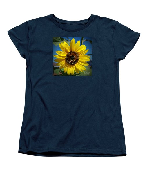 Sunflower Glow Women's T-Shirt (Standard Cut) by Loriannah Hespe