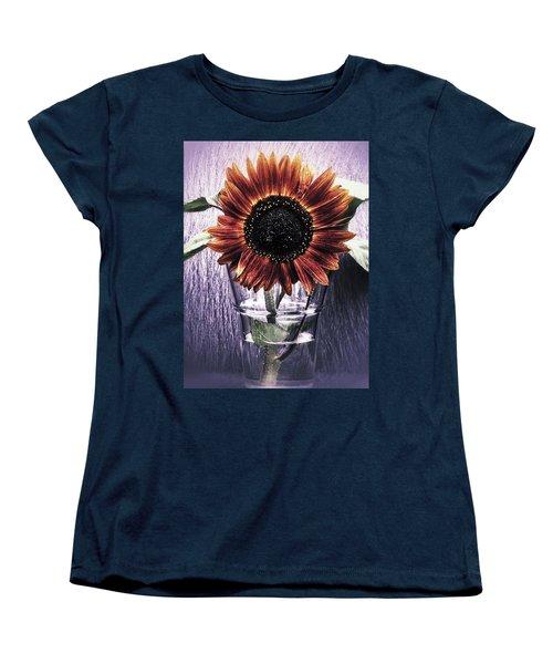 Sunflower In A Cup Women's T-Shirt (Standard Cut) by Karen Stahlros