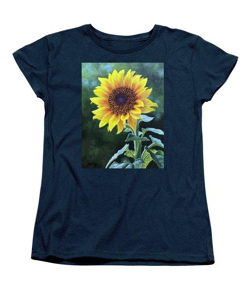Sunflower Women's T-Shirt (Standard Cut) by Janet King