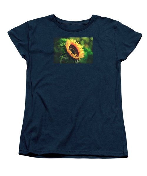 Women's T-Shirt (Standard Cut) featuring the painting Sunflower by Rose-Maries Pictures