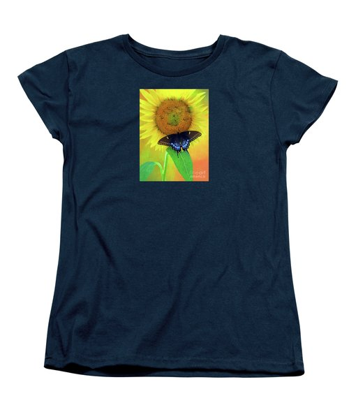 Sunflower With Company Women's T-Shirt (Standard Cut) by Marion Johnson