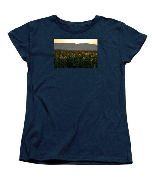 Women's T-Shirt (Standard Cut) featuring the photograph Sunflowers by Dubi Roman