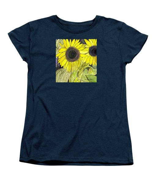 Sunflowers Women's T-Shirt (Standard Cut) by Lou Belcher