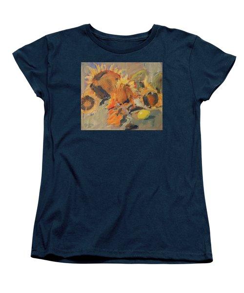Sunflowers With Lemon Women's T-Shirt (Standard Fit)