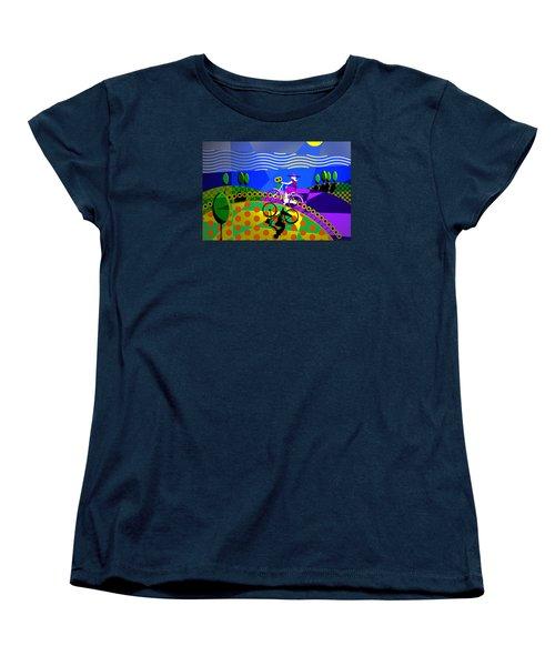 Women's T-Shirt (Standard Cut) featuring the digital art Sunny Acres by Randall Henrie