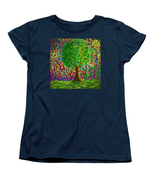 Sunny Tree Women's T-Shirt (Standard Cut) by Kevin Caudill