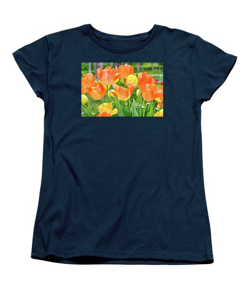 Women's T-Shirt (Standard Cut) featuring the photograph Sunny Tulips by David Lawson