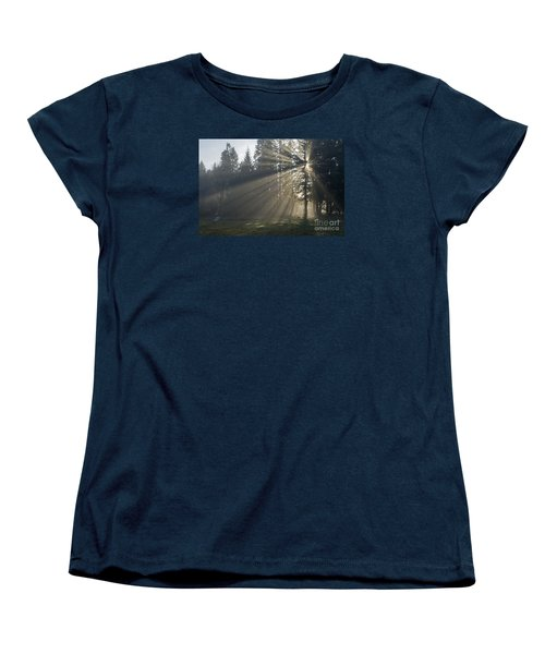 Women's T-Shirt (Standard Cut) featuring the photograph Sunrays by Inge Riis McDonald