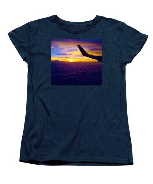 Sunrise Above The Clouds Women's T-Shirt (Standard Cut) by Judi Saunders