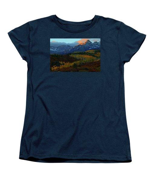 Sunrise At Dallas Divide During Autumn Women's T-Shirt (Standard Cut) by Jetson Nguyen