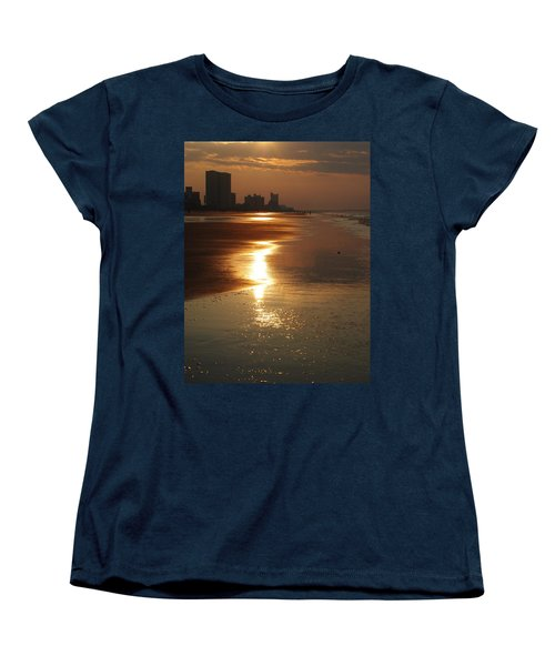 Sunrise At The Beach Women's T-Shirt (Standard Cut) by Eric Liller