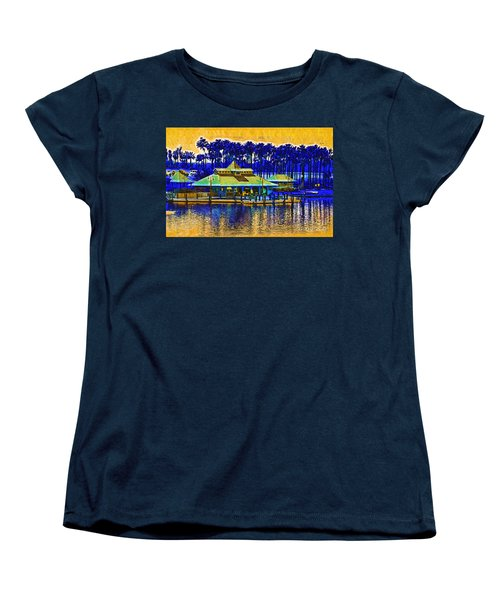 Sunrise At The Boat Dock Women's T-Shirt (Standard Cut) by Kirt Tisdale