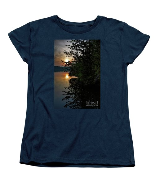 Sunrise At The Lake Women's T-Shirt (Standard Cut) by Henry Kowalski